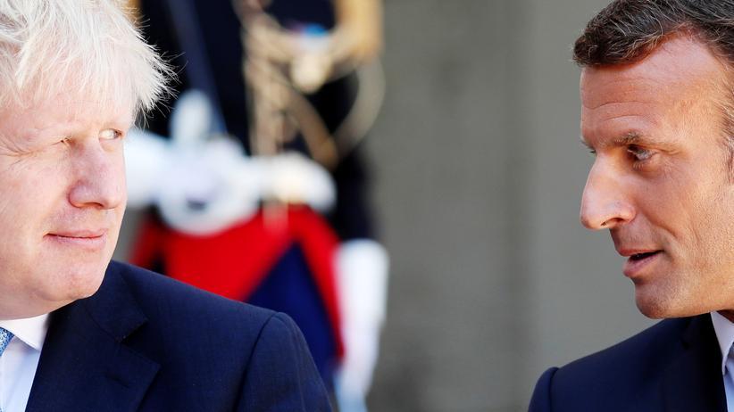 Ein beinharter Emmanuel Macron