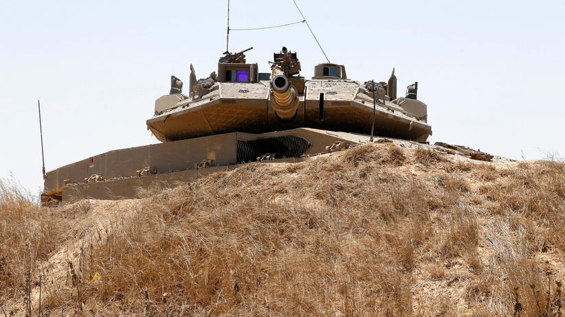 Gazastreifen: Ein israelischer Panzer nahe der Grenze zum Gazastreifen.