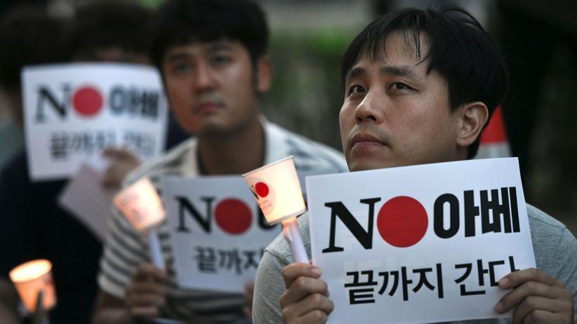 Handelskonflikt: Südkoreaner protestieren gegen die japanischen Handelsbeschränkungen
