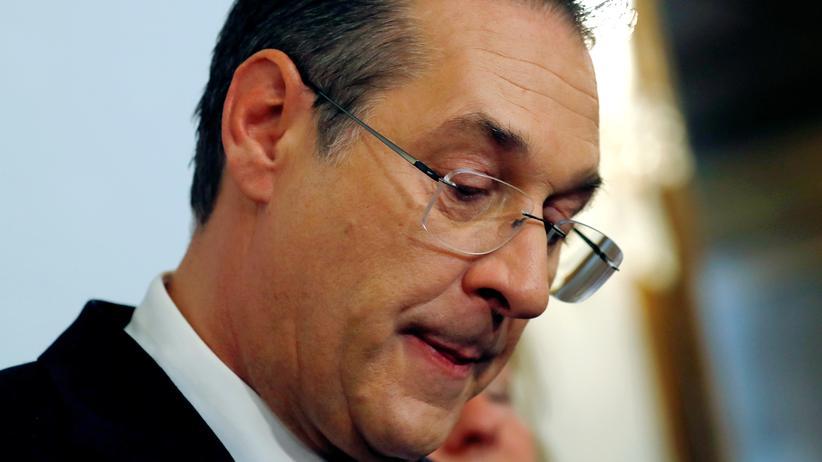 Ibiza-Affäre: Der ehemalige österreichische Vizekanzler Heinz-Christian Strache am Tag seines Rücktritts