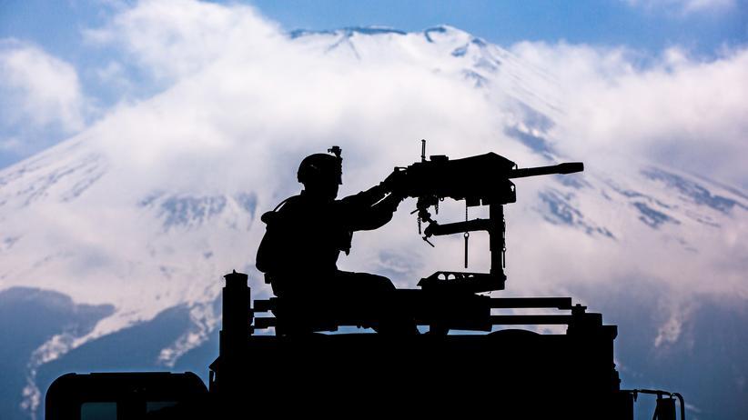 INF-Vertrag: Ein Soldat der US-Marines bei einem Trainingseinsatz in Japan im April 2019