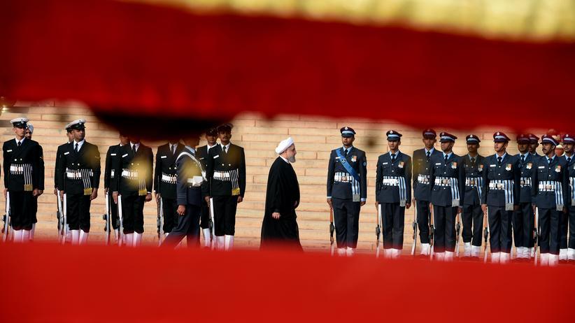 Iran: Irans Präsident Hassan Ruhani während seines Staatsbesuchs in Indien im Februar 2018