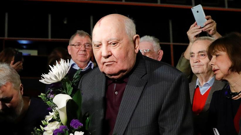 """INF-Abkommen: Michail Gorbatschow, früherer sowjetischer Präsident, bei der Premiere des Dokumentarfilms """"Meeting Gorbachev"""" in Moskau, November 2018"""