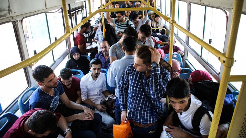 Mit dem Bus zurück in den Krieg
