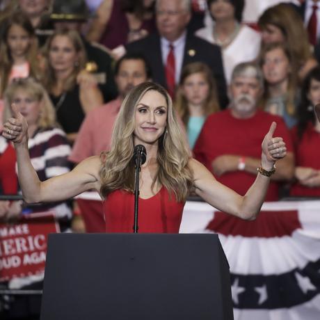 US-Wahlkampf: Lara Trump auf einer Wahlkampfveranstaltung des Präsidenten im vergangenen Mai