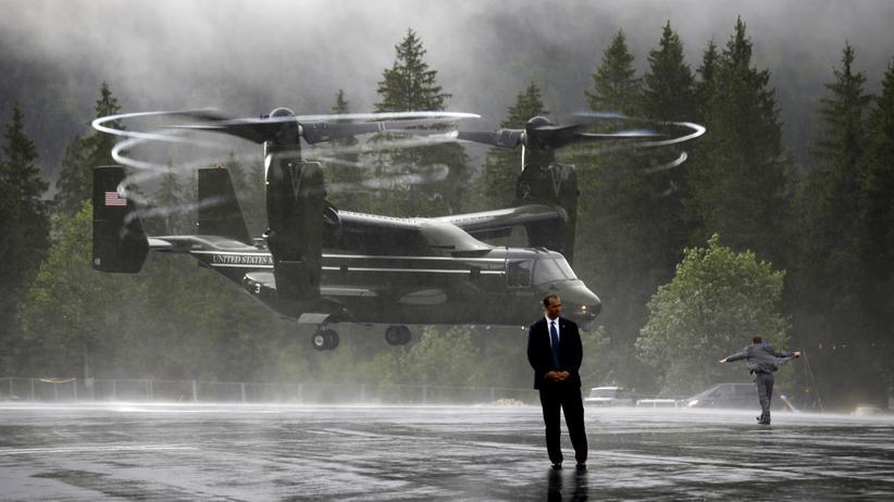 USA: Ein US-Militärhubschrauber bei der Landung in Bayern (Archiv)