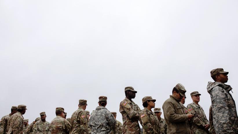 Einwanderung: US-Truppen im texanischen Donna nahe der mexikanischen Grenze