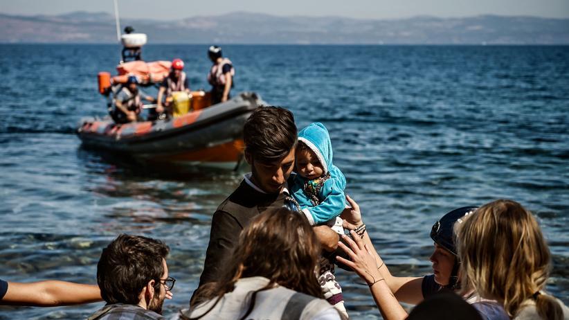 Flüchtlinge: Ankunft von Migranten aus der Türkei auf der griechischen Insel Lesbos im September 2019.