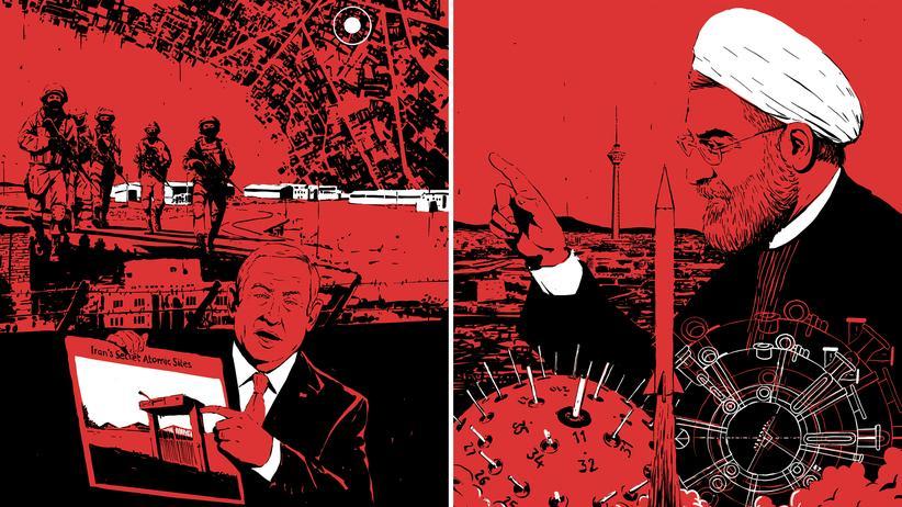 Atomabkommen: Israels Premier Benjamin Netanjahu (links) wollte mehrmals losschlagen. Der iranische Präsident Ruhani (rechts) kann den Bau der Bombe jederzeit wieder vorantreiben.