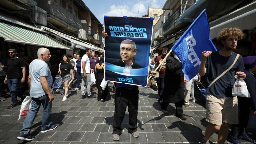 Israel: Wahlwerbung der Likud-Partei für Benjamin Netanjahu