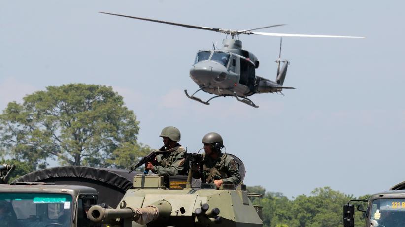 Militärübung: Militärübung am Francisco García de Hevia Airport in La Fría im Bundesstaat venezolanischen Táchira