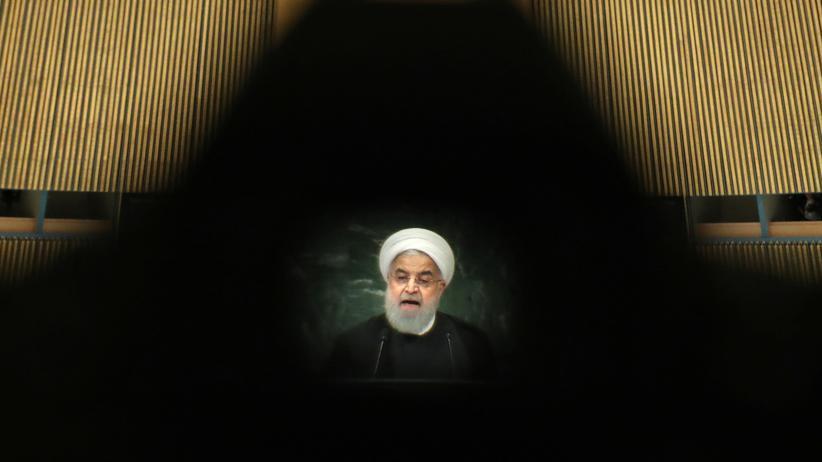 Atomabkommen: Irans Präsident Hassan Ruhani während seiner Rede vor der UN-Vollversammlung im September 2018 in New York