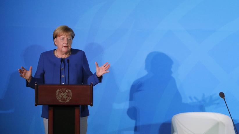 Klimagipfel der Vereinten Nationen: Die Kanzlerin wirkte nicht, als sei sie besonders alarmiert.
