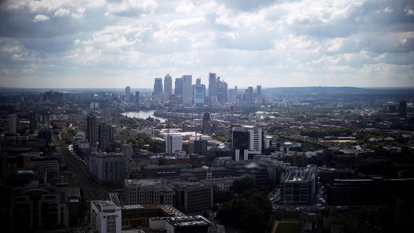 Brexit: Blick auf den Londoner Finanzdistrikt