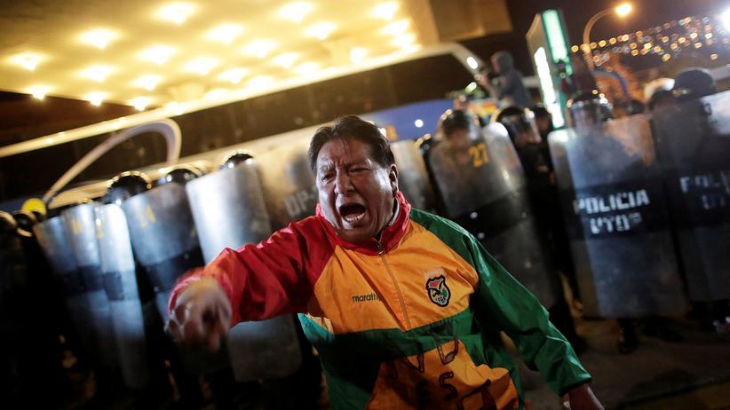 Bolivien : Opposition protestiert gegen Morales' Wahlsieg