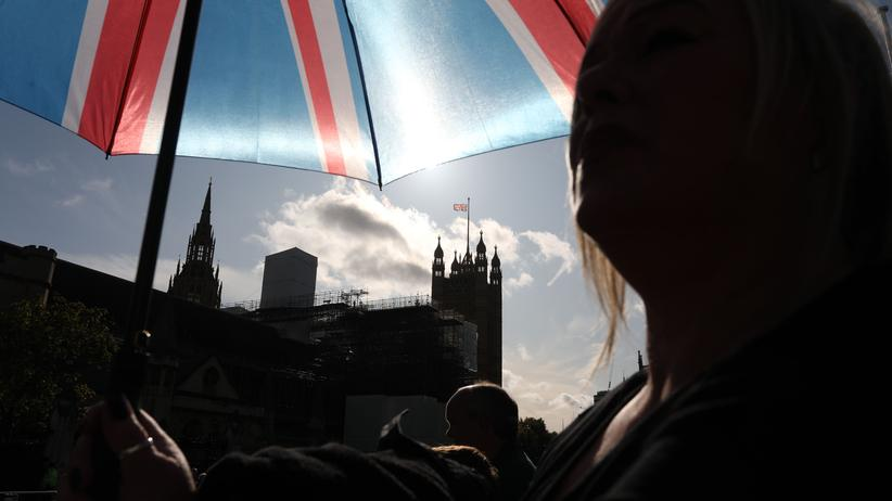 EU-Austritt: Demonstranten vor dem Unterhaus in London