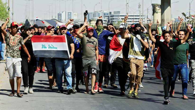 Irak: Demonstranten am 4. Oktober 2019 in Bagdad