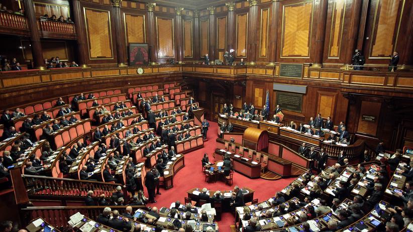 Italien: Das italienische Parlament in Rom