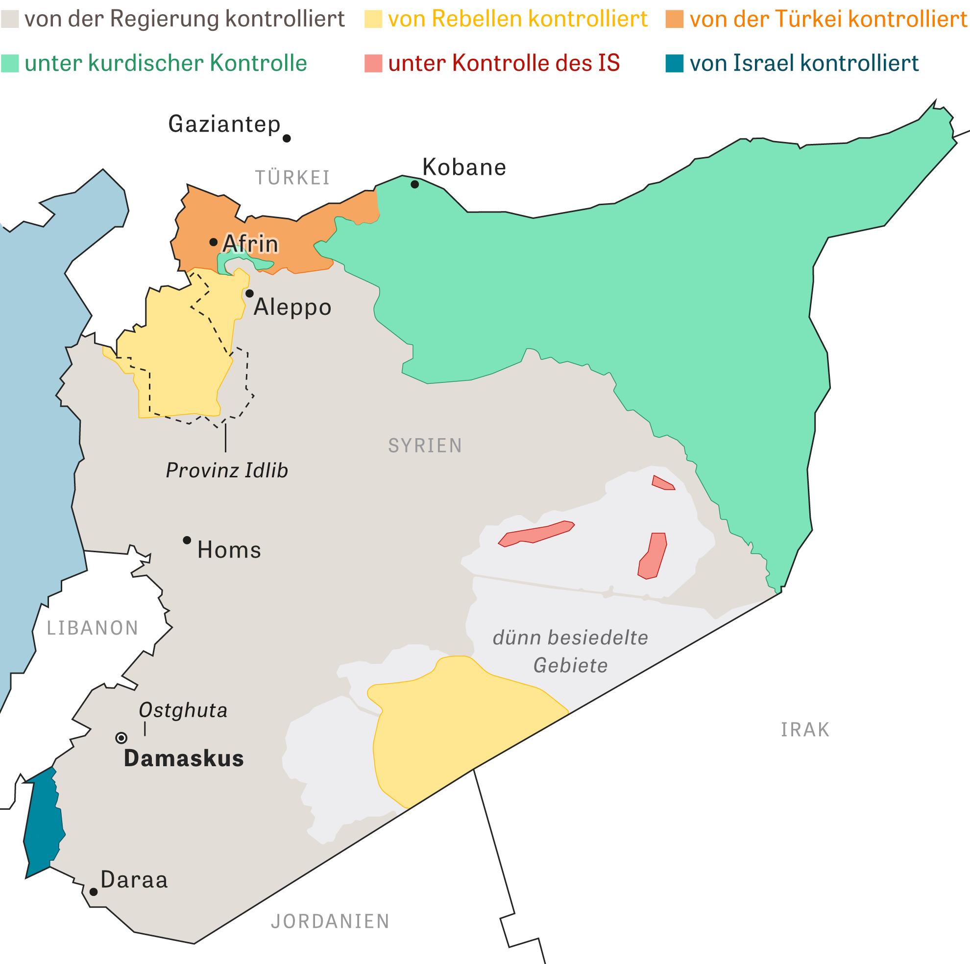 Syrien: Einflusssphären in Syrien