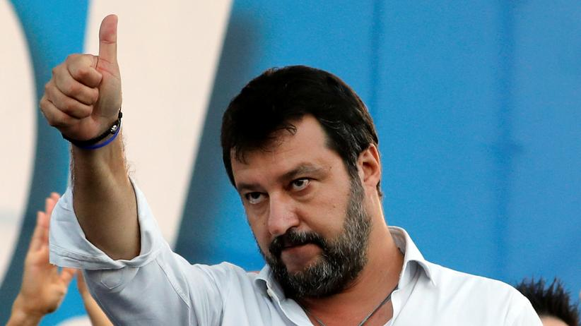 Umbrien: Der Gipfel des Populismus ist wohl noch lange nicht überschritten: Matteo Salvini bei einer Demonstration gegen die Regierung in Rom (Aufnahme von Mitte Oktober)
