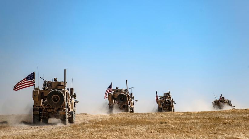 US-Truppen: Ein US-amerikanischer Militärkonvoi an der syrisch-türkischen Grenze