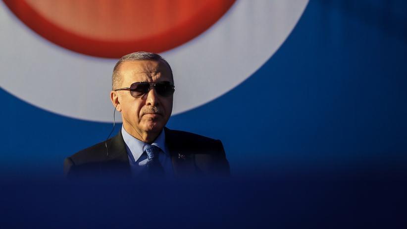 """Militäroffensive: """"Die Besetzer, das seid ihr!"""", sagte der türkische Präsident während seiner Rede in Ankara."""