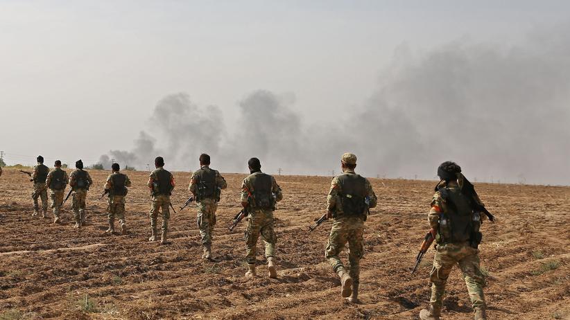 Nordsyrien: Protürkische syrische Kämpfer während der Offensive