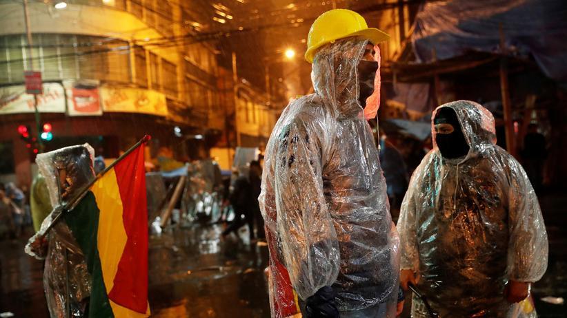 Bolivien: Regierungskritische Demonstranten in La Paz