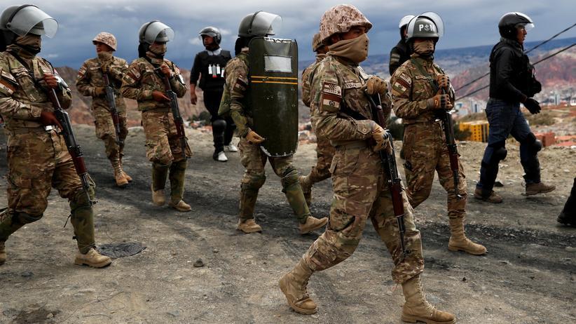 Bolivien: Patrouille in La Paz