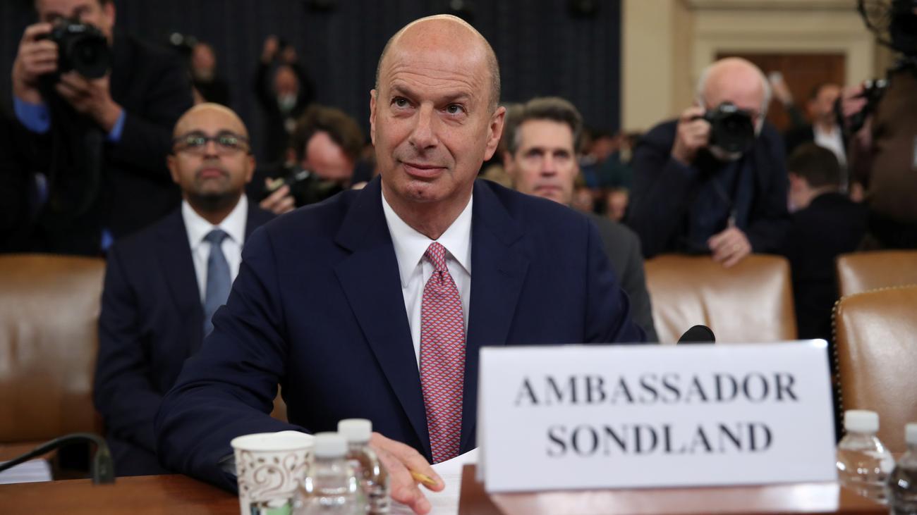 Gordon Sondland: Botschafter bestätigt Vorwürfe gegen Donald Trump