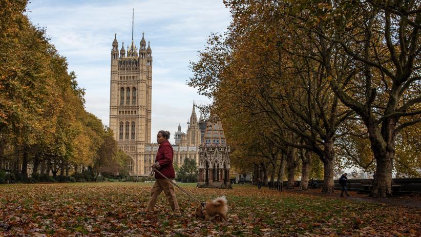 Großbritannien: Das House of Parliament, Sitz des britischen Parlaments, in London