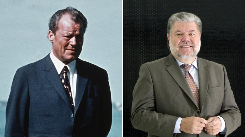 SPD: Zwei SPD-Chefs aus verschiedenen Jahrzehnten: Willy Brandt (Bild aus dem 1971) und Kurt Beck (2008).