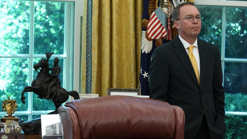 Ukraine-Affäre: Mick Mulvaney im Oval Office des Weißen Hauses