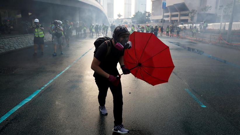 USA: Protest im September 2019 in Hongkong
