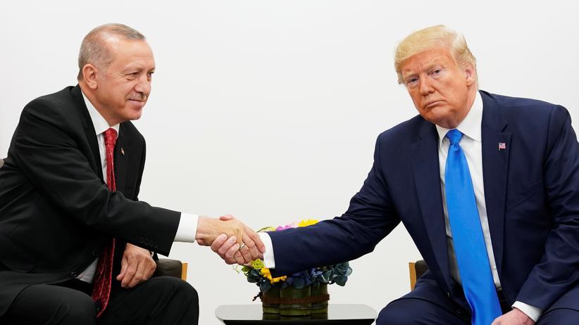 USA: Donald Trump (rechts) und Recep Tayyip Erdoğan bei einem Treffen während des G20-Gipfels in Osaka