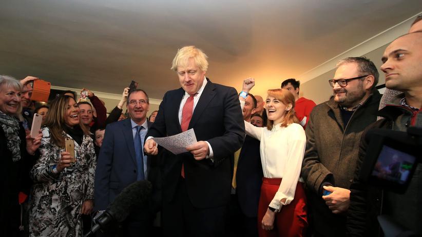 UK-Wahl: Boris Johnson bei seinem Auftritt in Sedgefield
