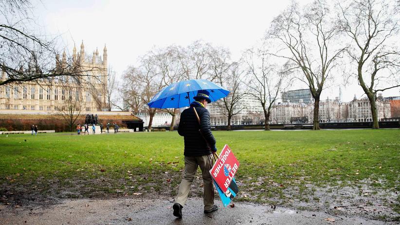 Brexit: Ein Brexit-Gegner in London