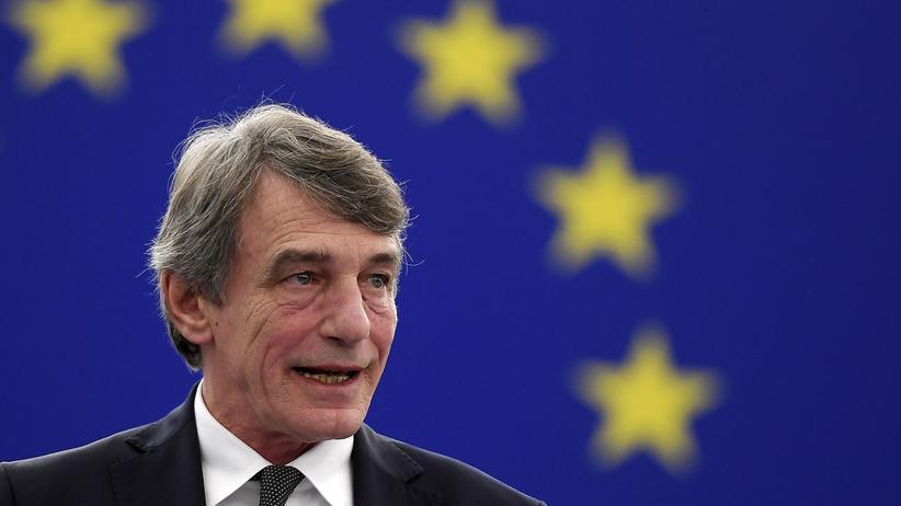 Parlamentspräsident: David Sassoli, Präsident des Europäischen Parlaments, hält anlässlich des 10. Jahrestags des Inkrafttretens des Vertrags von Lissabon eine Rede im Haus der Europäischen Geschichte in Brüssel.