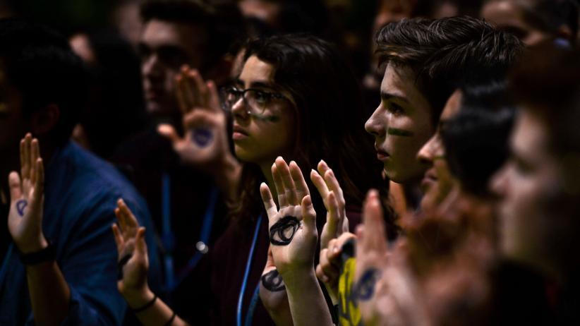 Madrid: Demonstrantinnen und Demonstranten während der UN-Klimakonferenz COP25
