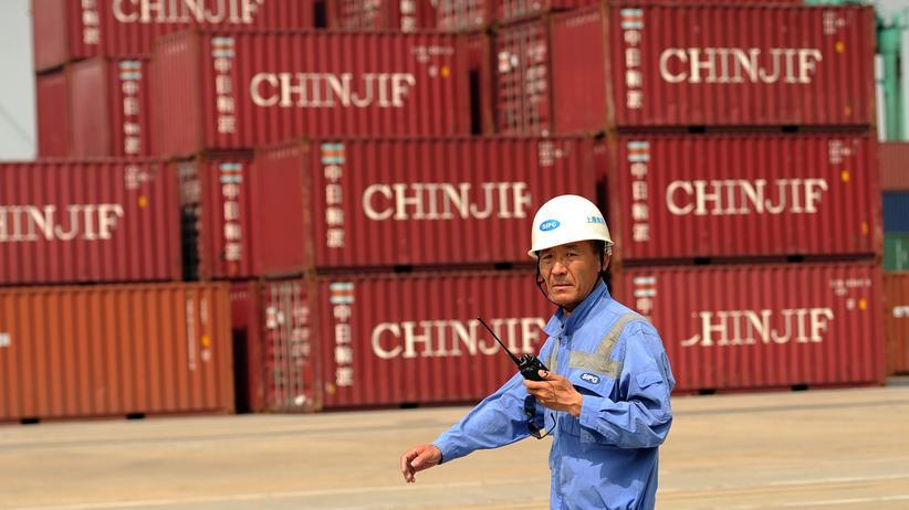 Handelskonflikt: Container im Hafen von Schanghai