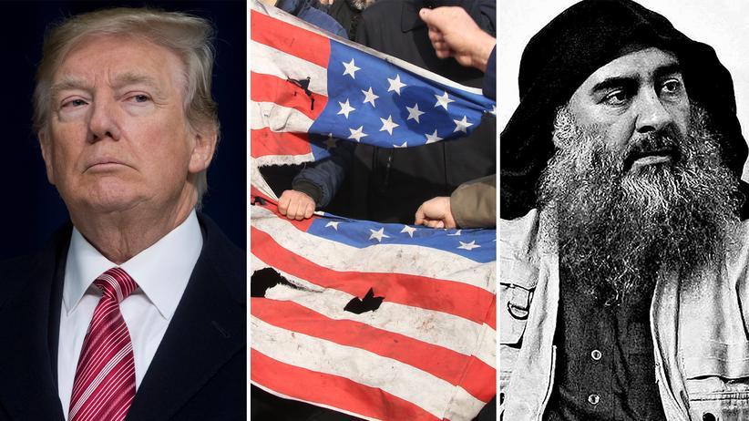 Naher Osten: US-Präsident Donald Trump rühmt sich damit, während seiner Amtszeit nicht nur Kassem Soleimani, sondern auch IS-Anführer al-Bagdadi (rechts) ausgeschaltet zu haben.