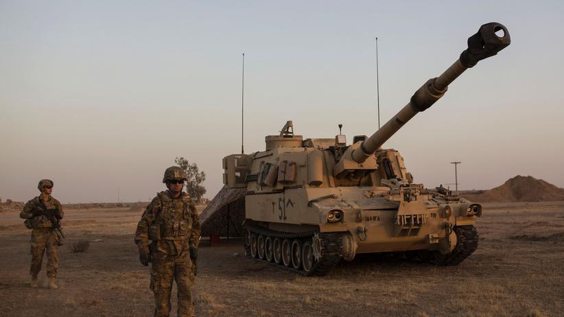 Resolution: US-Soldaten beim Kampf um die Befreiung der irakischen Stadt Mossul vom Islamischen Staat, Oktober 2016