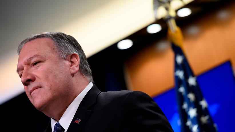 Iran-Krise: US-Außenminister Mike Pompeo während einer Pressekonferenz in Washington