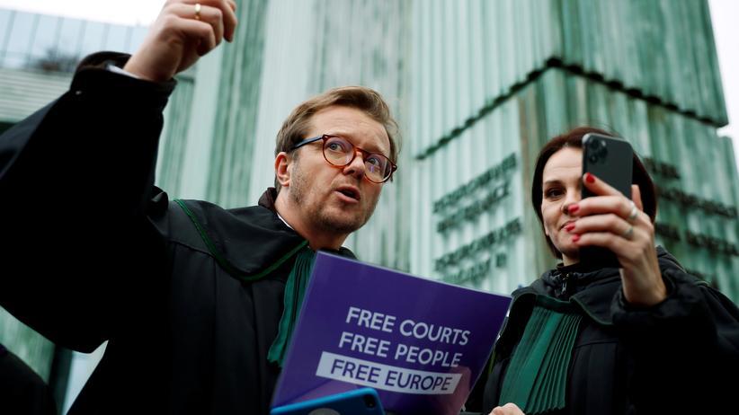 Justizreform: Proteste gegen die Justizreform in Warschau
