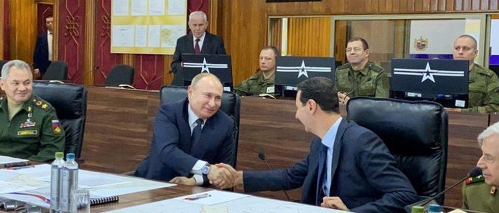 Syrien: Wladimir Putin trifft Baschar al-Assad überraschend in Damaskus
