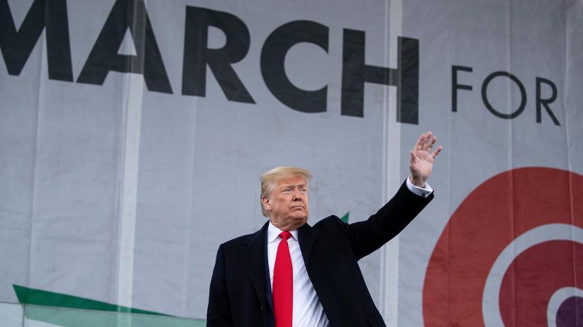 """""""March for Life"""": """"Ungeborene Kinder haben noch nie einen stärkeren Verteidiger im Weißen Haus gehabt"""": Donald Trump während der """"March for Life""""-Kundgebung in Washington"""