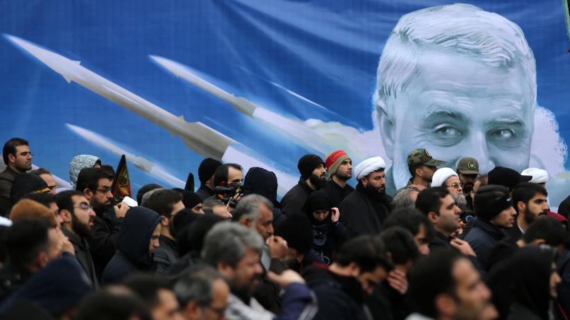 Teheran: Eine Anti-USA-Rally in der iranischen Hauptstadt Teheran, nachdem der Militärgeneral Kassem Soleimani getötet wurde.