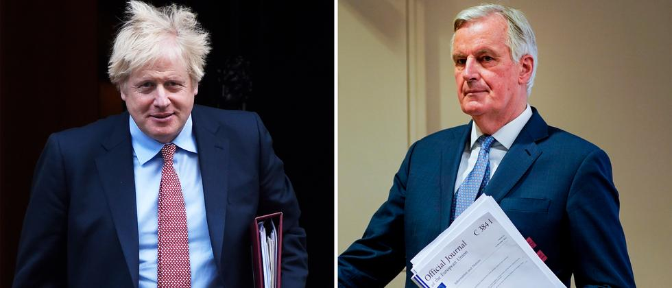 Freihandelsabkommen: Drei Seiten von Boris Johnson, 33 von Michel Barnier