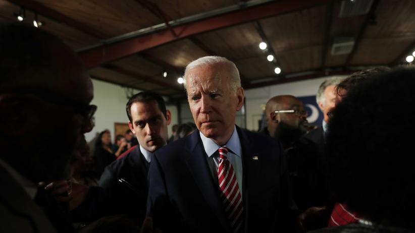 US-Vorwahlen: Joe Biden am Abend der Vorwahl in New Hampshire