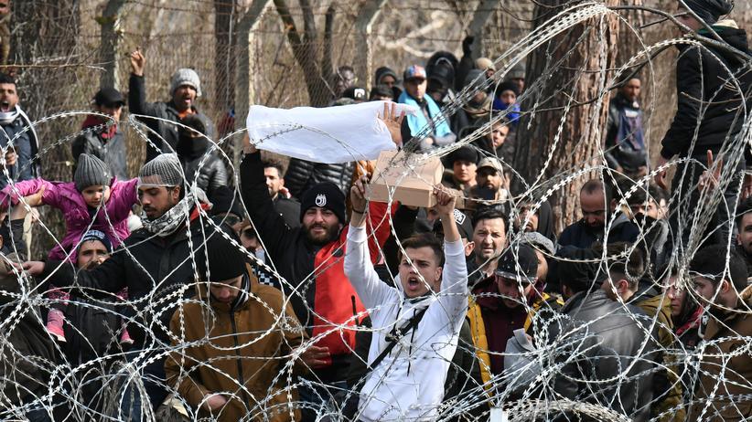 """Griechisch-türkische Grenze: """"Hier ist keine Tür mehr"""": Flüchtlinge an der griechisch-türkischen Grenze"""